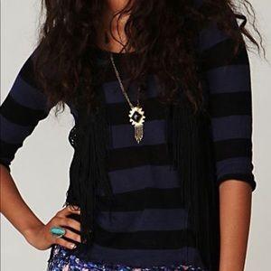 Tommy Hilfiger Dark Blue and Purple Stripe Top